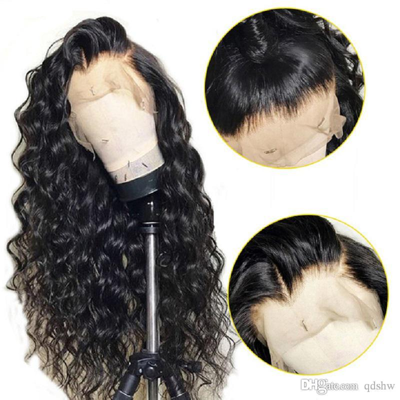 Loose Wave Human Full Lace Wig With Baby Hair Glueless Preplucked Remy Brazilian Loose Wave Human Hair Wigs For African Americans