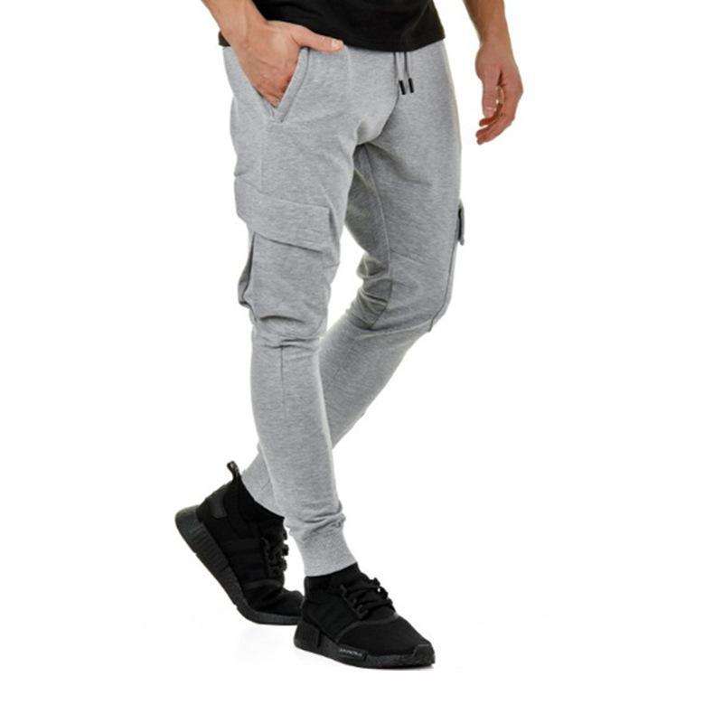 62b46ab5e89 Acheter Pantalon Cargo Pantalon De Jogging Solide Pour Hommes Vêtements  Coupe Slim Crayon Pantalons Grandes Poches Taille Élastique De  35.17 Du  Cqclothes ...
