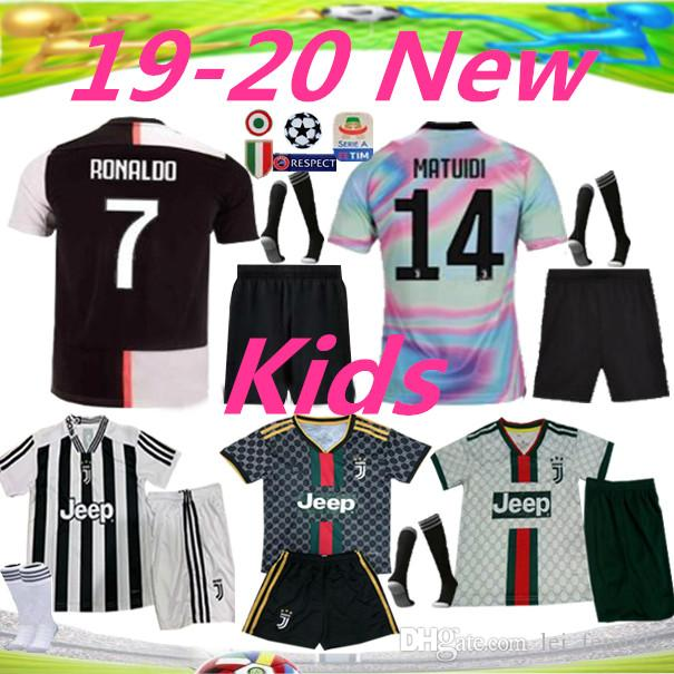 check out 3e7ae 5c92a 19 20 Kids Juventus 7 RONALDO Soccer Jersey kit 2019 2020 juve 10 DYBALA 11  D. Costa 17 MANDZUKIC BUFFON Kids third Football shirt uniforms