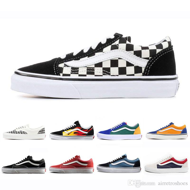 94b4a5515a2694 Cheap Brand Vans Old Skool Fear Of God Men Women Canvas Sneakers Classic  Black White YACHT CLUB Red Blue Fashion Skate Casual Shoes Clogs For Women  Shoe ...