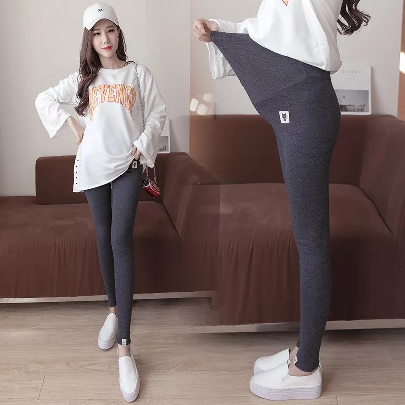 Large Size Maternity Dress Leggings Kitten Pregnant Women Spring And Autumn Clothes Small Feet Pants Pregnant Women Trousers