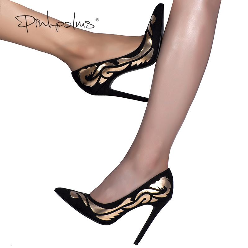 4b86ab51806 Pink Palms sexy women summer pumps shoes autumn high heel pumps ethnic  totem pointed toe party wedding pumps