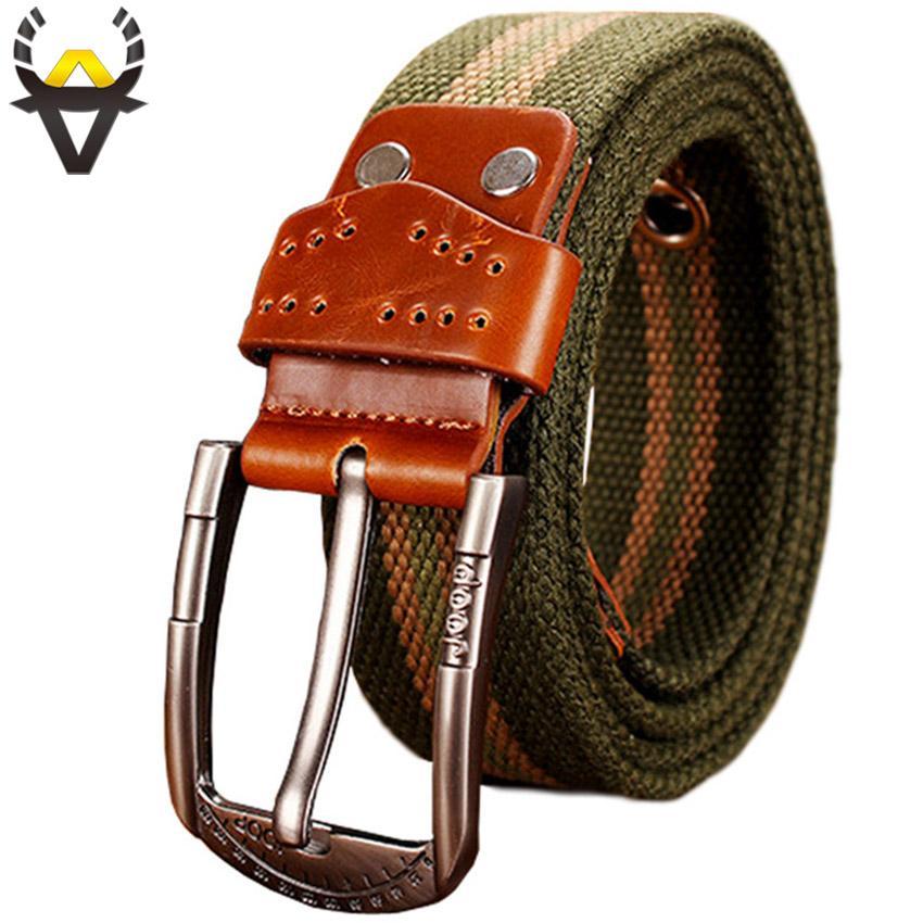 Compre Cinturón Táctico Del Ejército Hombre Moda Lona De Alta Calidad  Cinturones De Los Hombres Militar Metal PIN Hebilla Para Correa De Jeans  Causales ... 63328746992c
