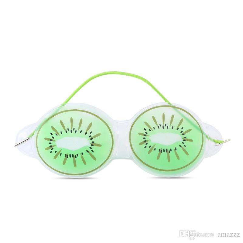 100pcs Fruit Shape Ice Mask Goggles Eye Gel Mask Hot and Cool Remove Dark Circles Relieve Eye Fatigue Sleep Eye Mask