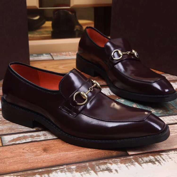 abc1e333 Compre Nueva Marca Francesa De Lujo De Negocios Vestido De Los Hombres  Zapatos De Cuero Transpirable Casado Caballero Casual Zapatos De Los Hombres  Envío ...