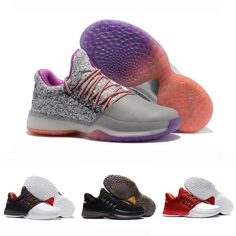 reputable site a17b7 06a1e 2018 New James Harden Vol.1 Black History Month White Orange Gold Mens  Basketball Shoes Harden 1 Low Trainer Sports Sneakers 40 46 Loafers For Men  Red Shoes ...