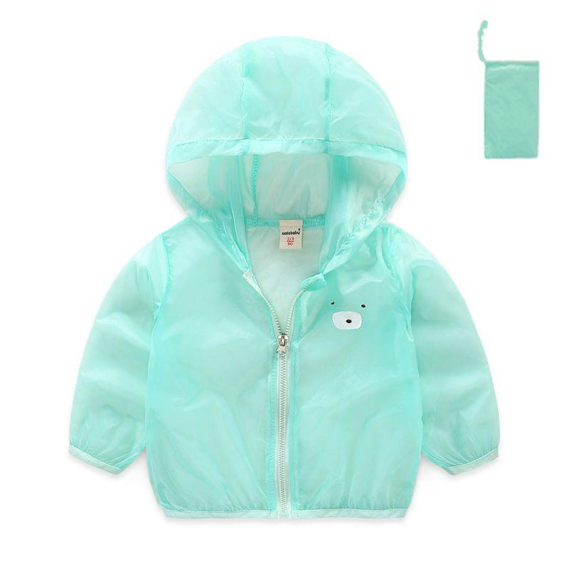 128fbe4a7 Breathable Zipper Baby Girls Boy Coat Outerwear Sun Clothing ...