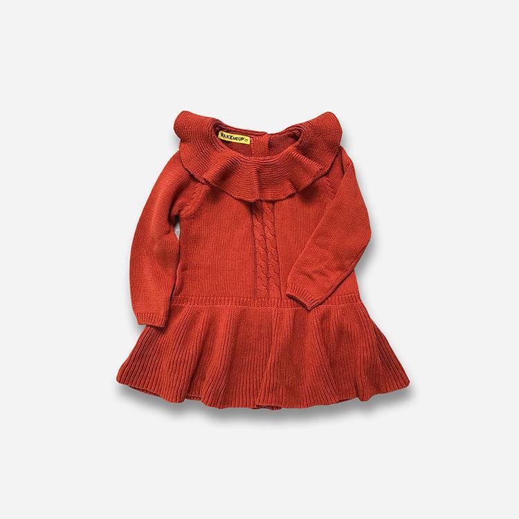 213a50cc0 Compre 2019 Outono Inverno Menina Vestido De Algodão De Tricô Tule Bebê  Menina Tutu Vestido De Manga Longa De Malha Camisola Bebê Menina Ruffles  Vestido 1 ...