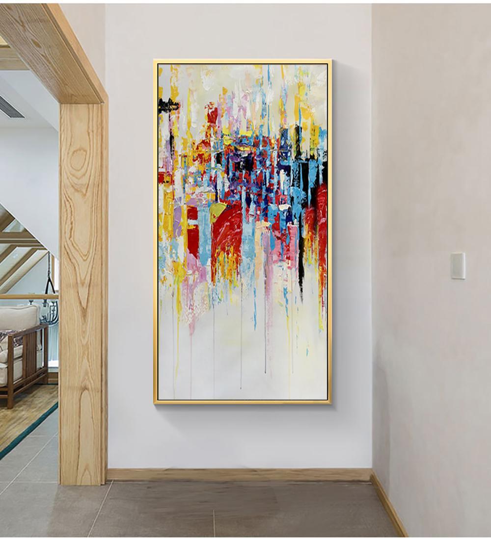 Großhandel MUYA Wandbilder Für Wohnzimmer Große Abstrakte Malerei ...
