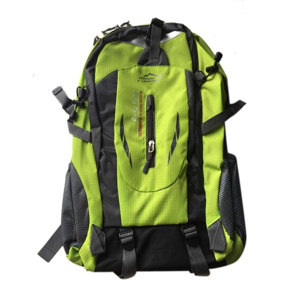 c94eac7bc8f3 Big Backpack Capacity 40L Waterproof Fabrics Rain Covers Anti Theft Camping  Hiking Outdoor Sports Bag Mesh Backpack Justice Backpacks From Leafie