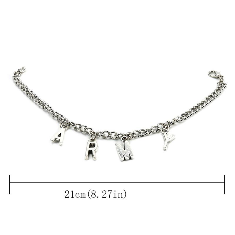 Corea Bangtan Ragazzi Kpop BTS Bracciale ARMY Link Chain Charm Bracciali gioielli da donna