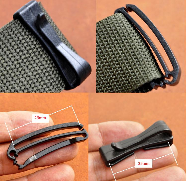 10x 25mm 38mm 50mm attach molle webbing buckle strap Belt end clip adjust  keeper tactical backpack bag camp hike outdoor military