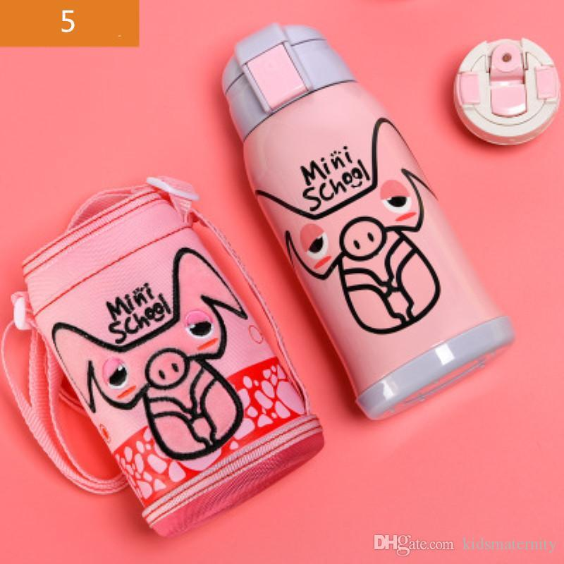 79d2a62a2 2019 Babysing 500ML Cartoon Children Water Bottle Kids Straw Thermos  Stainless Steel Vacuum Water Bottle Drinkware Baby Training Kettle Cup From  ...