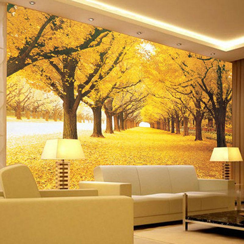 Compre Custom 3d Wall Mural Wallpaper Paisaje Natural Otono Paisaje