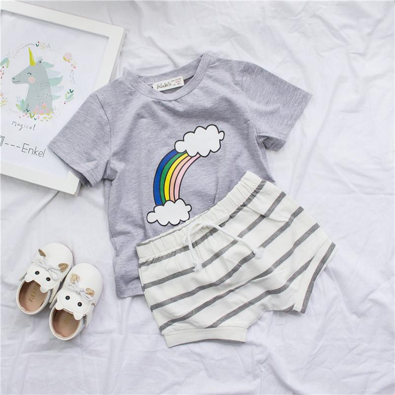 b8a283dbc 2019 Clearance Boys Rainbow T Shirt Boys Summer Cute Tees Toddler ...