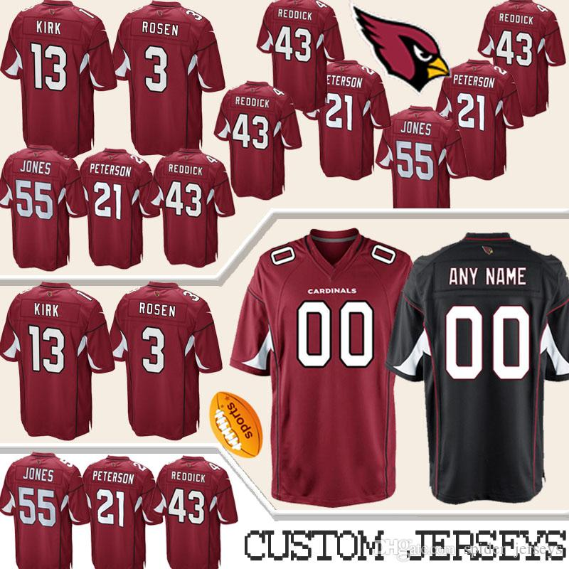 half off bae55 dd421 Custom Arizona Jersey Cardinals 11 Larry Fitzgerald 13 Warner 21 Peterson  31 David Johnson 32 Tyrann Mathieu Any name Any number Jerseys