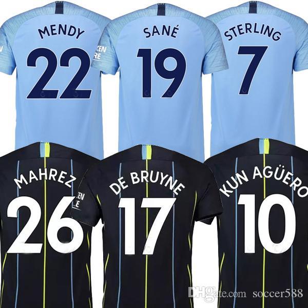 0c0d5aee86d43 MENDY 18 19 Manchester City Camiseta De Fútbol Soocer Jersey 2019 Man City  MAHREZ DE BRUYNE KUN AGUERO Camiseta De Fútbol STERLING Camisetas De Futbol  JESÚS ...