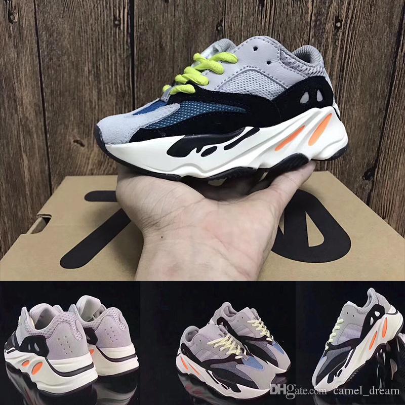 58d0d7c41 Wave Runner 700 Kanye West Running Shoes Kids Trainer Sneaker 700 Sport Shoe  Children Athletic Shoes Grey Black Blue Supportive Kids Shoes Childrens  Shoes ...