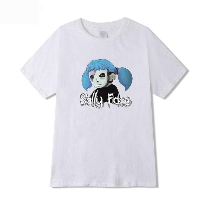 2f96c2a16 Sally Face T Shirt Men Summer Print T Shirt Boy Short Sleeve Black Pink  Navy Gray Yellow Sky Blue White Fashion Top Tees T Shirts Sale Novelty  Shirts From ...