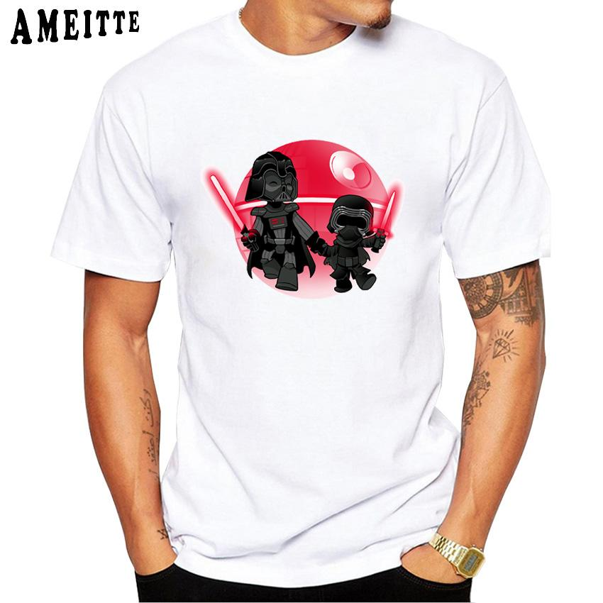 46ffeff8 Darth Grandpa Print T-Shirt Summer Fashion Men's T Shirt Funny Cartoon  Design Casual Men Tops Hipster Cool Boy Tees