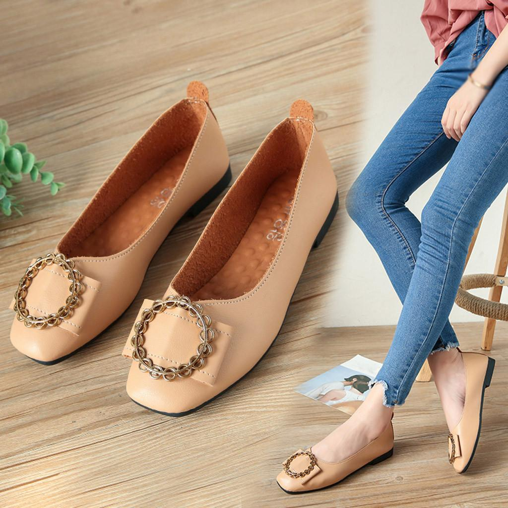 fd7f4aef6248a Shoes Xiniu Women Comfortable Cheap Casual Lady Leather Shallow Slip On Low  Heel New Square Toe Jobs Single Free Shipping