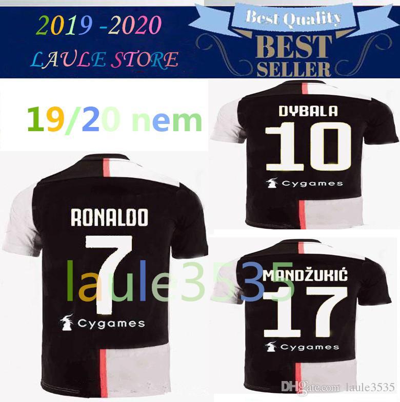 2019 19 20 Ronaldo Juventus Champions League Soccer Jerseys Dybala