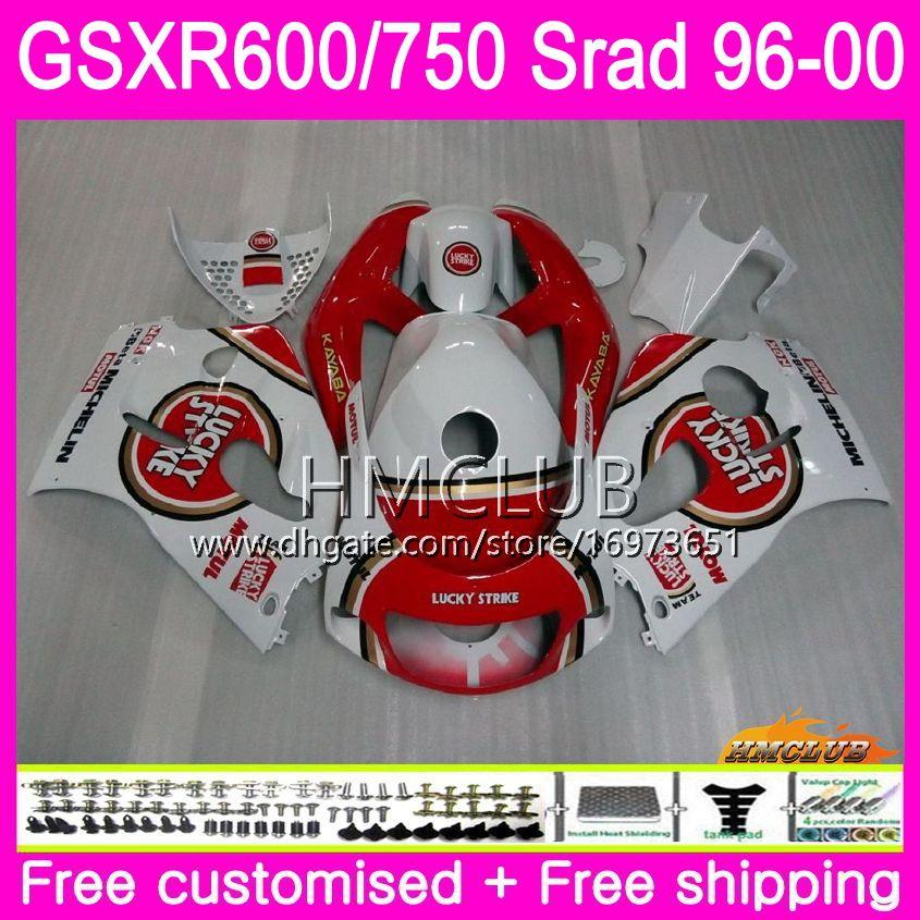 Body For SUZUKI SRAD Lucky Strike GSXR 750 600 1996 1997 1998 1999 2000 Kit 1HM.13 GSX-R750 GSXR-600 GSXR750 GSXR600 96 97 98 99 00 Fairing