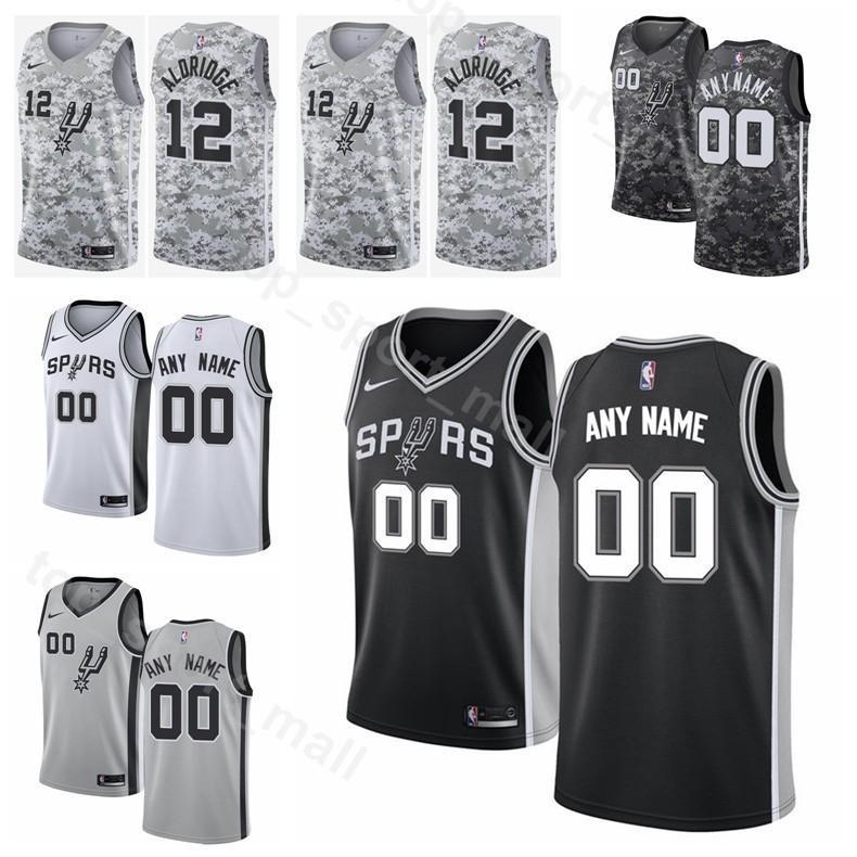 ... czech 2019 printed man kids woman san antonio basketball spurs 8 patty  mills jersey 11 bryn 1c16075da