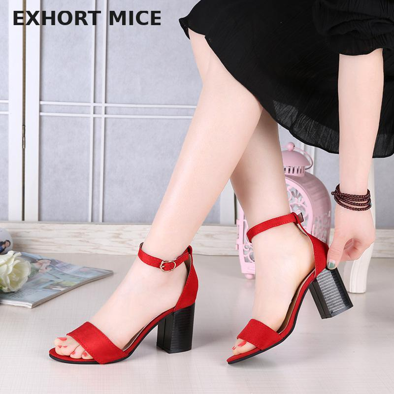 8d7a6b74a6ea EXHORT MICE High Heels Women Pumps Sexy Nightclub Wedding Casual Shoes  Parties Dress Peep Toe Summer Thick With Sandals Italian Shoes Summer Shoes  From ...