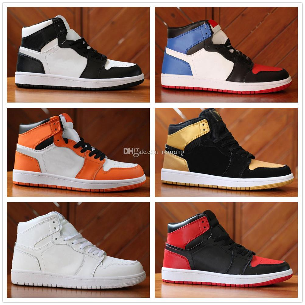 the best attitude 67587 136aa Acheter Nike Air Jordan Aj1 Chaussures Design OG 1 Chaussures De Basketball Pour  Femmes 1 Pine Green Court Haut Violet 3 Barons Hare Hommes Chaussures De ...