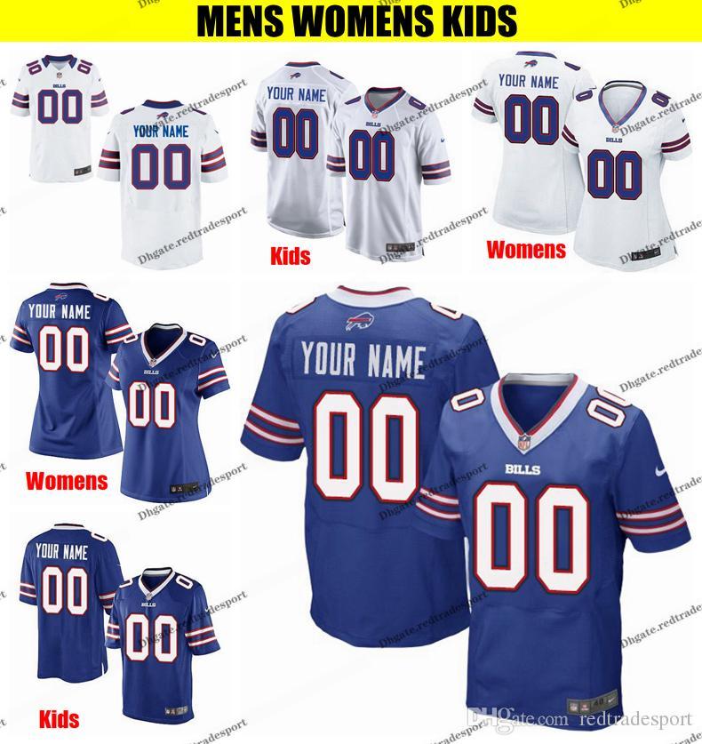 sports shoes 6a8df f1e26 Customize Buffalo Mens Womens Kids Bills Oliver 17 Josh Allen 12 Kelly 34  Thurman Thomas 78 Bruce Smith 16 Foster Woods Football Jerseys