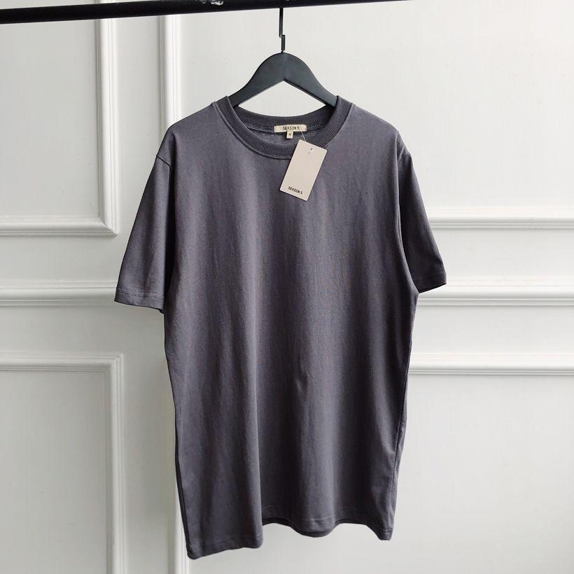 7cbceb46004c7 Satın Al Kanye T Gömlek Katı Erkek Yaz Elbise T Shirt Sezon 5 Kanye West En  İyi Kalite Pamuk Gri Tshirt Sezon 5, $23.68 | DHgate.Com'da