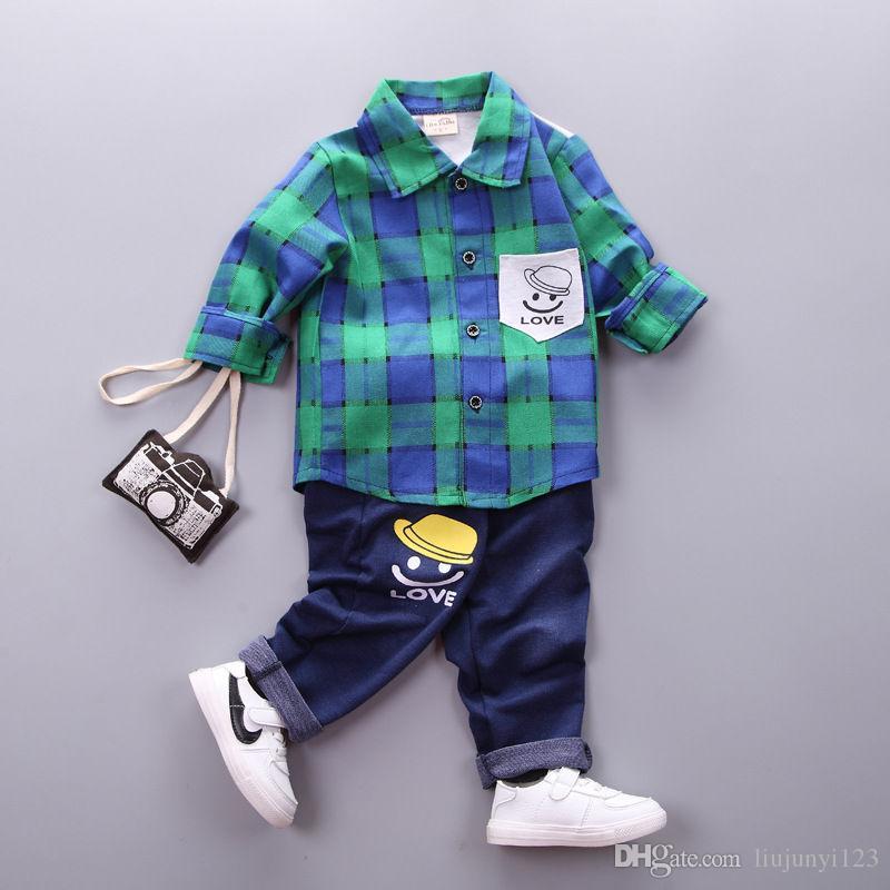 ec8f204ebf7c 2019 Boys Spring Autumn Clothing Sets Children Clothing Shirts+Pants ...