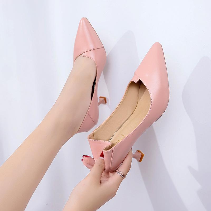33ecd51783 Compre Mulheres Sapatos De Inverno Das Mulheres De Couro Tamancos Grossos Saltos  Baixos Bombas Chinelos Italianos Queda Alta Rodada Mulher De Chengdaphone05  ...