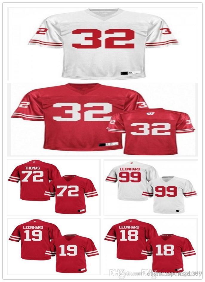 best service 2c58b b45f4 2016-2017 New Style Wisconsin Badgers 11 Jazz Peavy 18 Jim Leonhard 32 John  Clay 72 Joe Thomas College Football Stitched Limited Jerseys