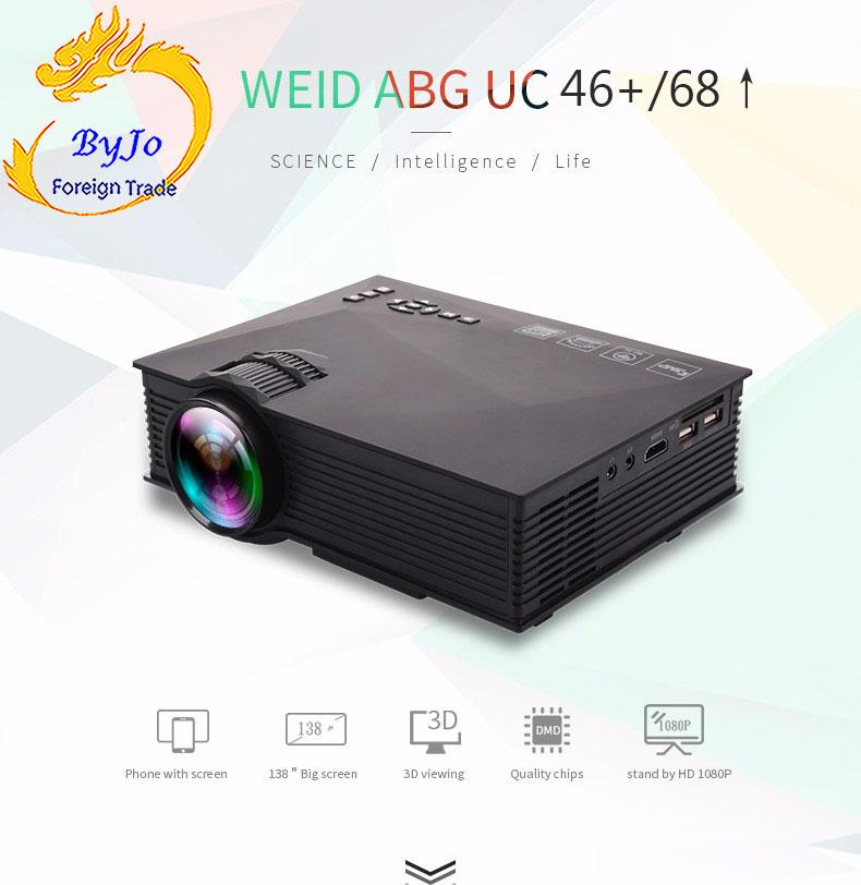 UNIC UC68 1800 lums Or UC46 1200 lums mini LED Projector Air Sharing Home  theater projector Full HD 1080p Video Projector HDMI proyector