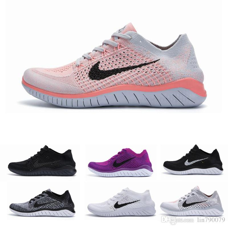huge discount 82b6b f72cd 2019 Nike Free Rn Flyknit 2018 Trainers Hombres Diseñadores de cojines  Zapatillas de deporte Hombre Negro Deportes Senderismo Jogging Shocks  Mujeres ...