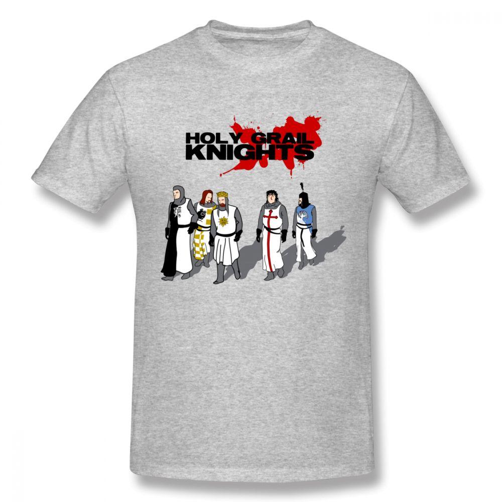 9ca2809d Novelty Holy Grail Knights T Shirt That Say Ni Monty Python O-neck Custom  Men's Vintage Natural Cotton S-6XL T-shirt