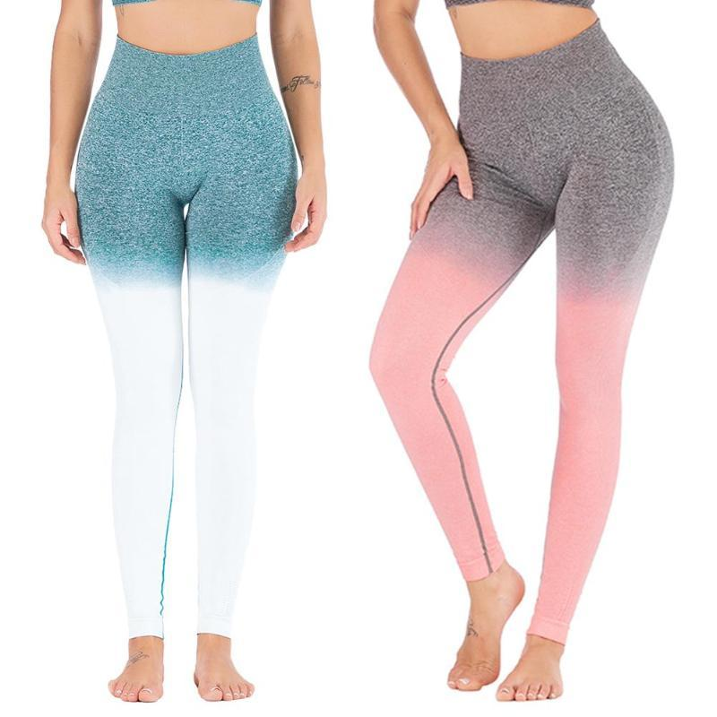 5a0467da62 2019 Women Sports Gym Yoga Pants Compression Tights Seamless Pants Stretchy  High Waist Run Fitness Leggings Hip Push Up From Seanliugao, $17.01 |  DHgate.Com