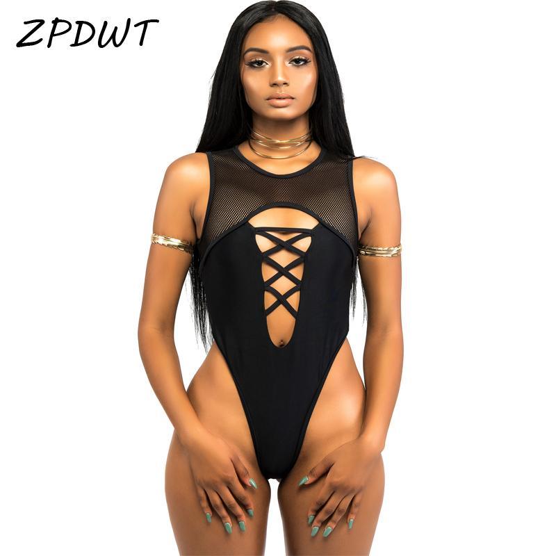 6c7c74adbe46c 2019 ZPDWT 2017 High Cut Bathing Suit One Piece Swimsuit Mesh Monokini High  Neck Swimwear Women Thong Swimsuit Black Maillot De Bain From Xisibeauty,  ...