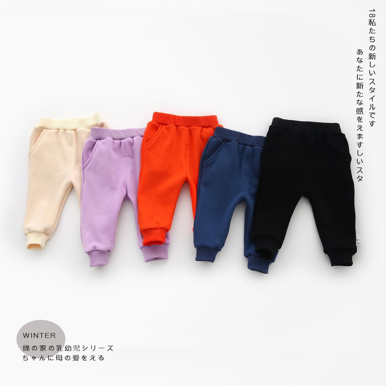 9b6099d368a1c Acheter Nouveau Né Bébé Pantalon Printemps Hiver Bébé Fille Vêtements  Infant Pantalon Automne Bébé Garçon Vêtements Warm Velvet Roupas Bebe  Vêtements Pour ...
