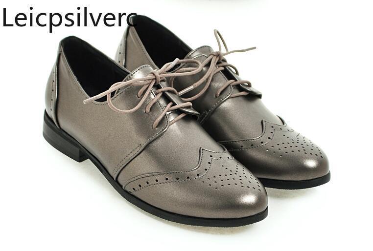 Pointures Automne Populaire Pu Nouveau Simples Et Printemps Femme Grandes Style Plates Mode Confortable Chaussures 30 50 Qshtrd