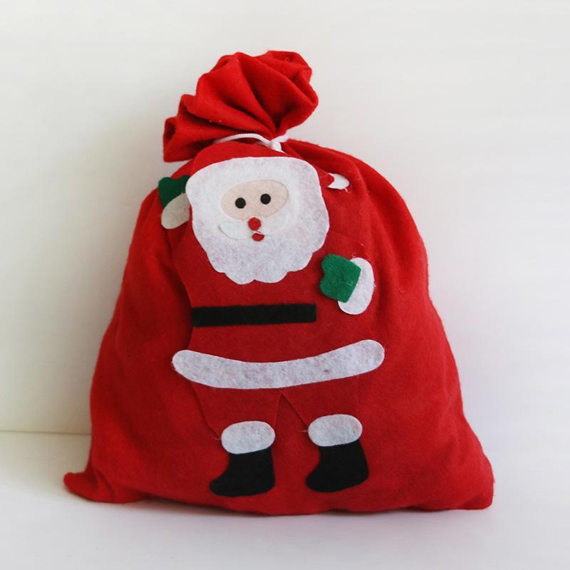 4c774085fc Acheter Sac Cadeau De Noël Père Noël Arbre De Noël Bonhomme De Neige Haute  Qualité Sac À Dos Sac En Tissu Non Tissé Cadeau Main Stickers De $4.71 Du  ...