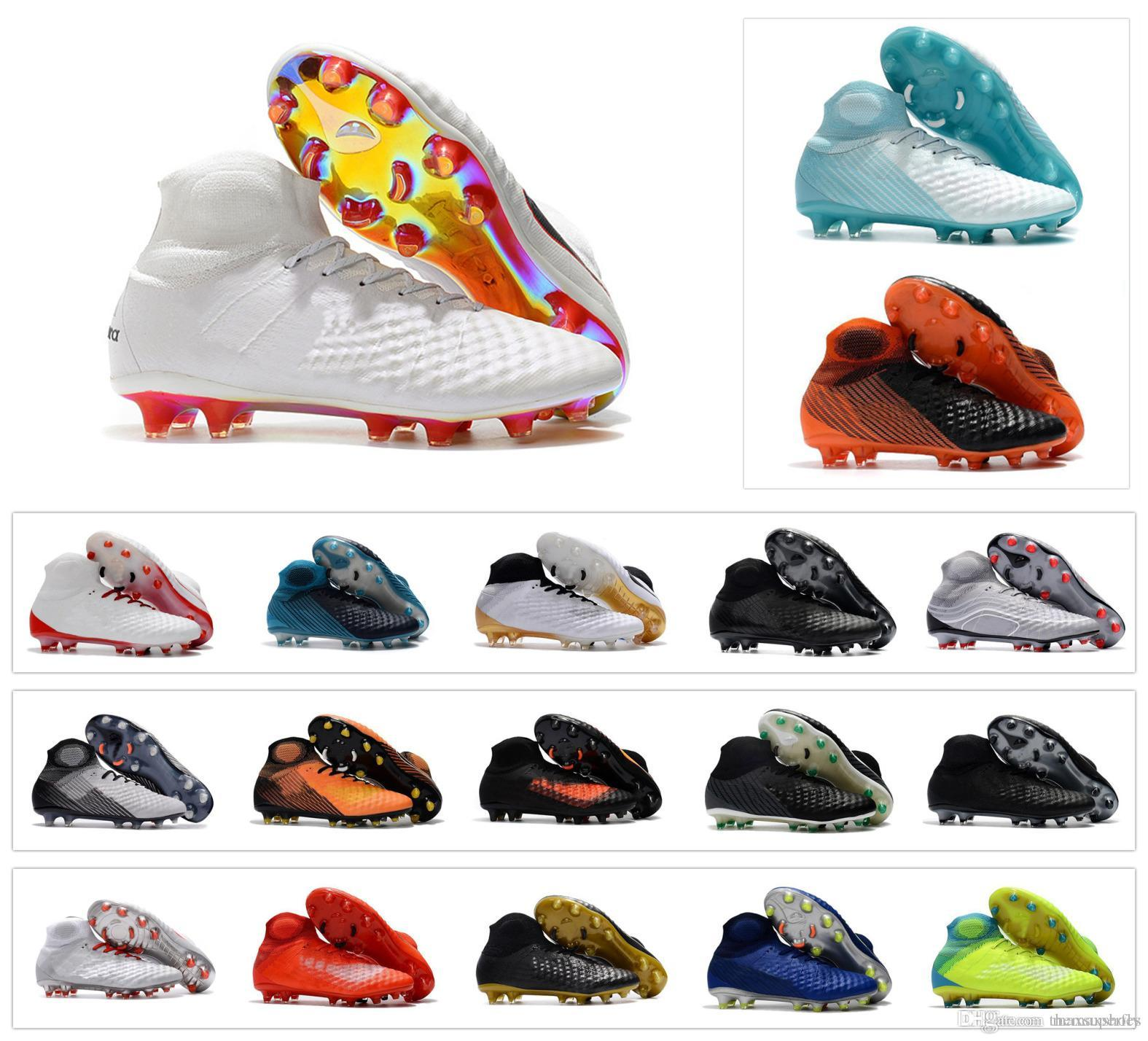 abc192ca8e9 2019 2018 Magista Obra 2 Elite II DF FG ACC 3D Waterproof Mens High Ankle Soccer  Shoes Football De Bruyne Boots Cheap Cleats Size US 6.5 11 From Maxsuperfly  ...