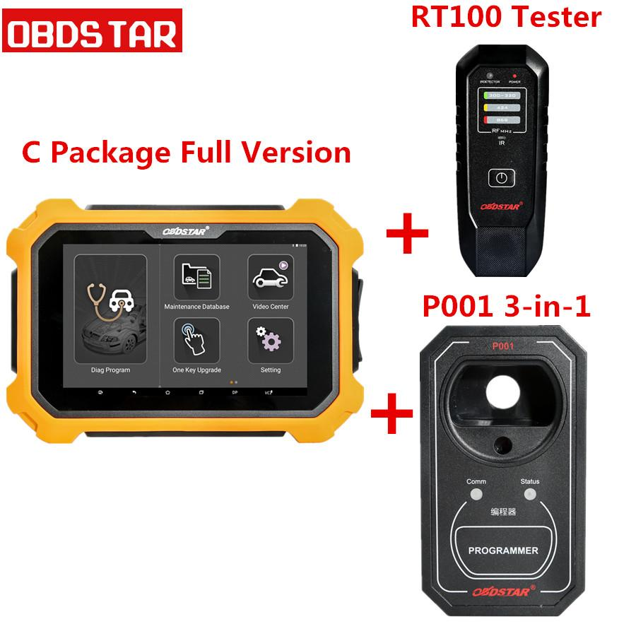 OBDSTAR X300 DP Plus X300 PAD2 C Package Full Version Support ECU  Programming and for Toyota Smart Key with P001 Programmer RFID