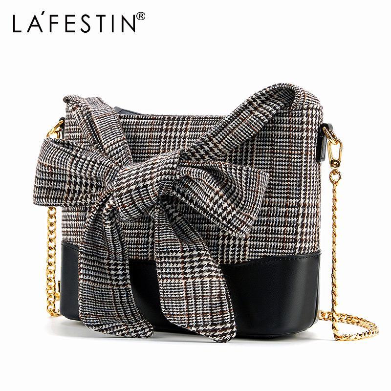 af6fc887816a LA FESTIN Brand Women S Bag 2018 New Contrast Color Plaid Design Fashion  Wandering Bags Retro Messenger Bags Chain Bag Female Purses For Sale Leather  Purse ...