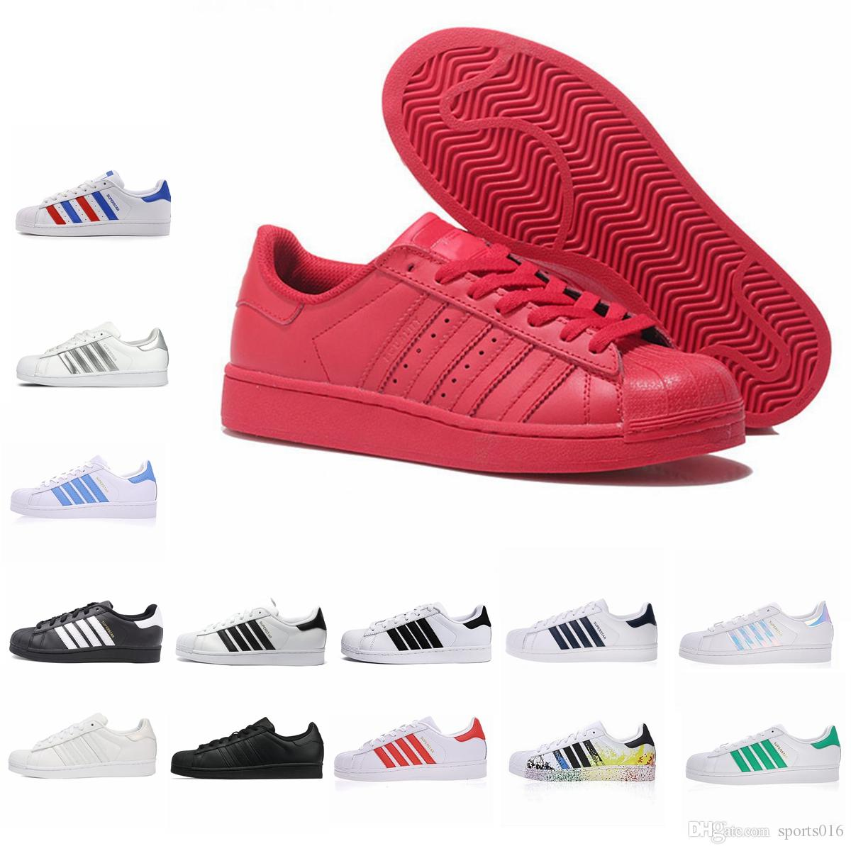 Adidas Super Star Bianco Ologramma Iridescente Junior Uomo Superstars 80s sneaker Pride Superstar Donna Uomo Sport Casual Scarpe 36-44