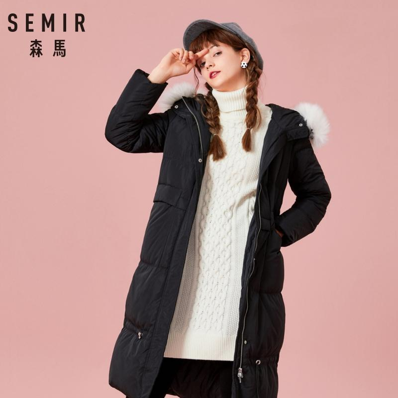 309efcdb4 SEMIR New 2018 Winter Jacket Coat Women Down Parka Plus Size XXL Thick Warm  Long Loose Hooded Snow Wear Cotton Padded Quilted Ja