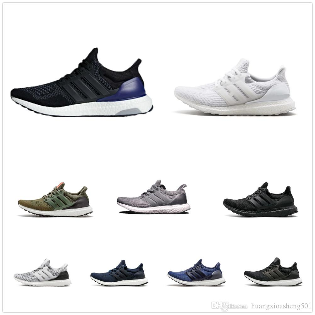 the latest 599fd 389ce Top Quality Ultraboost 3.0 4.0 Uncaged Running Shoes Men Women Ultra Boost  1.0 OG III Primeknit Runs White Black Athletic Shoes Size 36-47