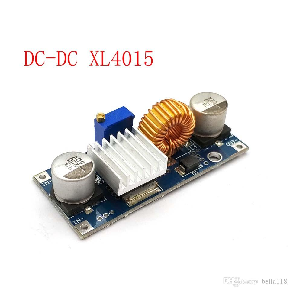 1piece 5A XL4015 DC-DC 4-38V to 1 25-36V 24V 12V 9V 5V Step Down Adjustable  Power Supply Module LED Lithium Charger With Heat S Wholesale